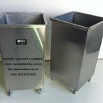 cesto de lixo em aço inoxidável