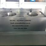 higienizador de mãos em aço inoxidável