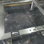 Base em aço inoxidavel para tanque