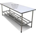 mesa bancada em aço inoxidável