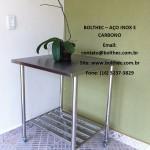mesas em aço inoxidável