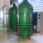 suporte para cilindro em aço inoxidável