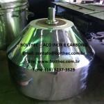 tambor drageadeira em aço inoxidável